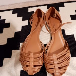 American eagle brown flat sandals SZ 7